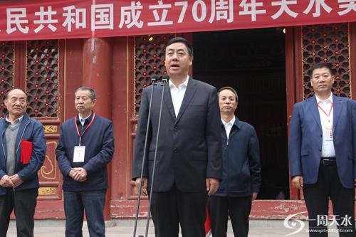 """【一周天水】""""庆祝中华人民共和国成立70周年天水美术书法作品展"""